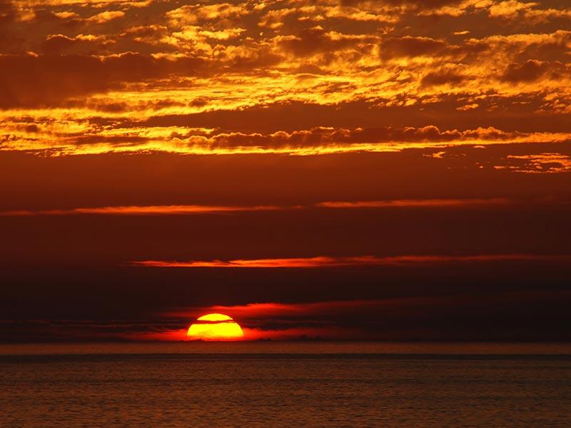 Solnedgång - Mauritius